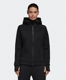 【老蒋正品行】Adidas女子运动型格夹克连帽外套